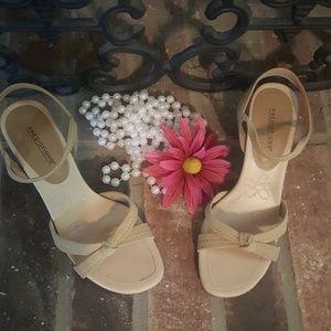 Taupe/Beige strappy heels